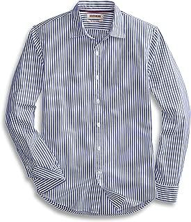 Amazon Brand - Goodthreads Men's Slim-Fit Long-Sleeve Banker Striped Shirt