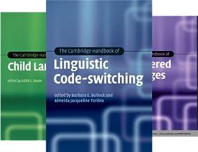 Cambridge Handbooks in Language and Linguistics (37 Book Series)