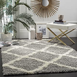 Safavieh Dallas Shag Collection Grey and Ivory Area Rug (8' x 10')