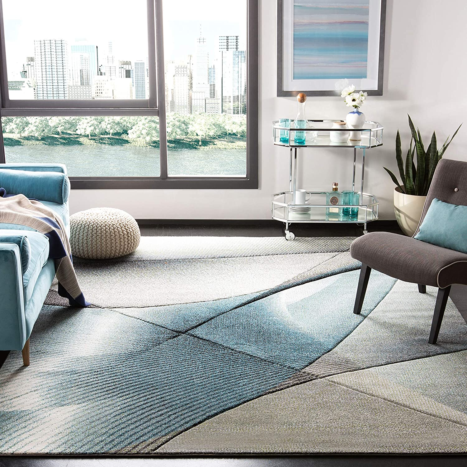 Safavieh Hollywood Collection HLW715D Mid-Century Modern Non-She