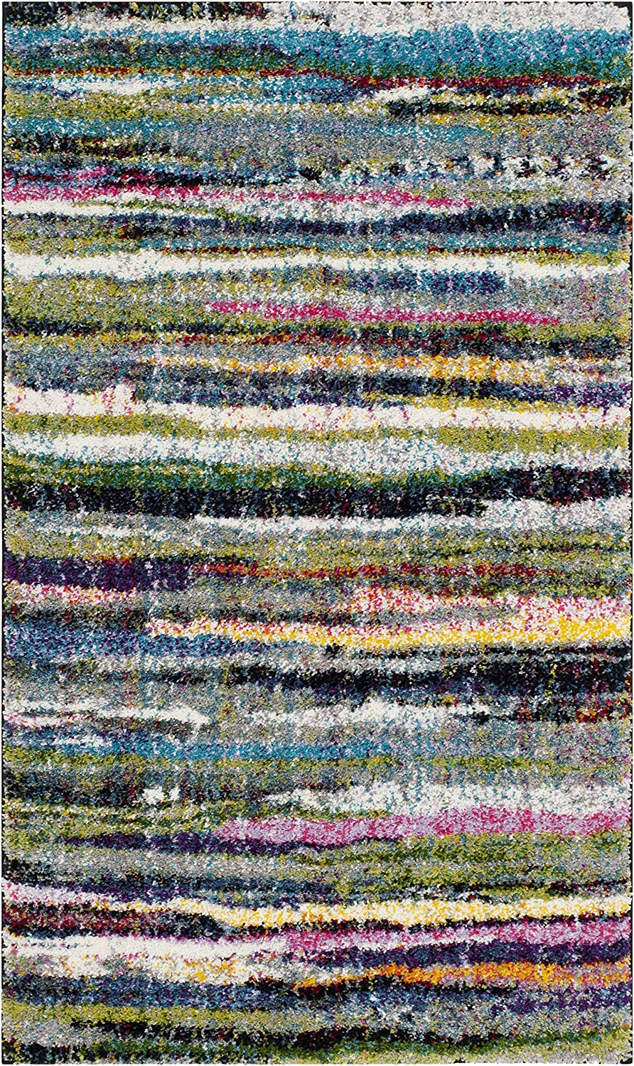 Safavieh Fiesta Shag Collection FSG367M Abstract Modern Non-Shed Trust NEW before selling ☆
