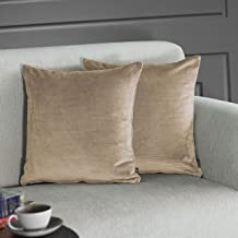 GMF Casto Velvet Texture Throw Cushion Cover/Cases with Zipper - Luxurious Soft Decorative Square Pillow Cover for Living ...