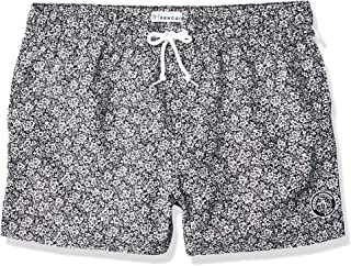 Original Penguin Men's Printed Elastic Waist Box Swim Short Trunks