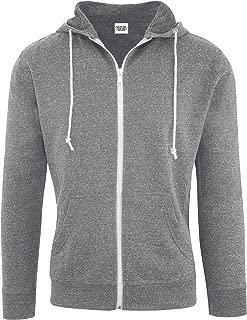 Hoodies for Men Lightweight Fitted Snow Heather French Terry Full Zip Hoodie Sweatshirt
