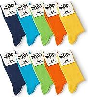 10 Paar Socken von Mat & Vic's für Sie und Ihn - Cotton classic bequem ohne drückende Naht - angenehmer Komfort-Bund -...