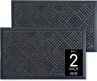 2 Pack Door Mat Indoor Entrance - Absorbing Door Mat - Stylish Indoor Door Mat - 30x18 Front Door Mat Indoor - Durable Doo...