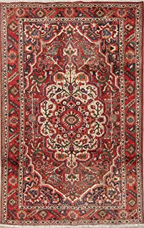 Rug Source Traditional Bakhtiari Persian Oriental Hand Knotted Wool 6x10 Area Rug Red (9' 11