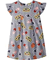 Kenzo Kids - Printed Ruffle Short Sleeve Dress (Big Kids)