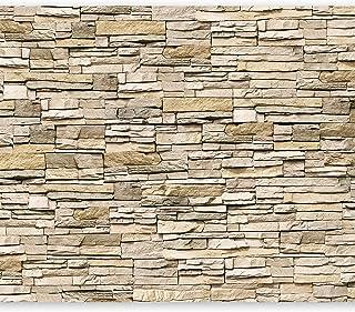 murando Fotomurales 400x280 cm XXL Papel pintado tejido no tejido Decoración de Pared decorativos Murales moderna de Diseno Fotográfico de Piedras Ladrillo Concreto 3D f-B-0013-a-a