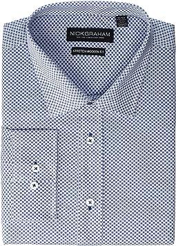 Printed Tile CVC Stretch Dress Shirt