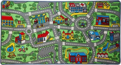 Click N' Play City Life Kids Road Traffic Play mat Rug Large Non-Slip Carpet Fun Educational for Play area Playroom Bedroo...