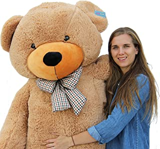"Joyfay 78"" Giant Teddy Bear Brown Huge 6.5 feet Stuffed Teddy Bear Soft Toy Valentine`s Big Gift"