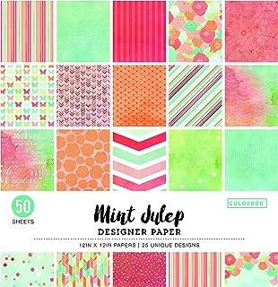 Colorbok 73490A Designer Paper Pad Mint Julip, 12