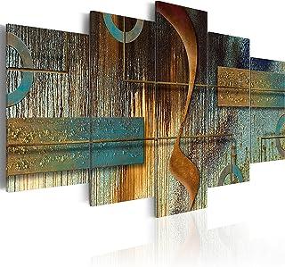 murando - Cuadro en Lienzo 200x100 cm - Abstraccion - impresión de 5 Piezas - Material Tejido no Tejido - impresión artística - Imagen gráfica - a-A-0266-b-n