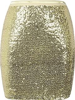 Women's Sequin Skirt High Waist Glitter Bodycon Holiday Cocktail Party Short Skirt