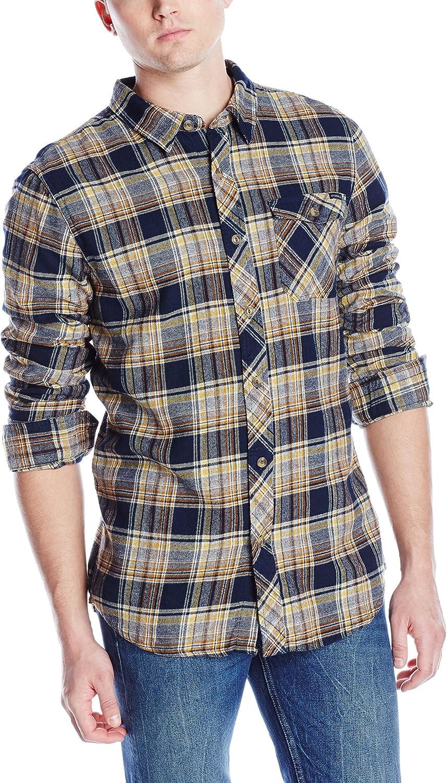O'NEILL Men's Flannel Long Phoenix Mall quality assurance Sleeve Casual Button Woven Down Shirt