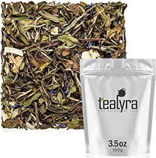 Tealyra - White Coconut Cream - Premium White Tea with Coconut Chips Blend - Loose Leaf Tea - High in Antio...