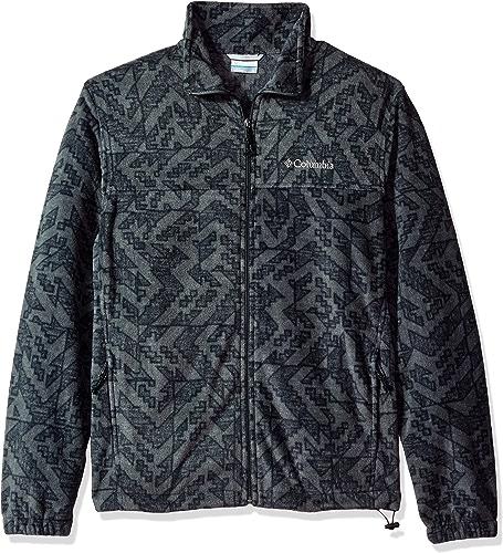 Columbia Men's Big and Tall Cascades Explorer Full Zip Fleece Jacket, Grill Galicut gris, XX-Large