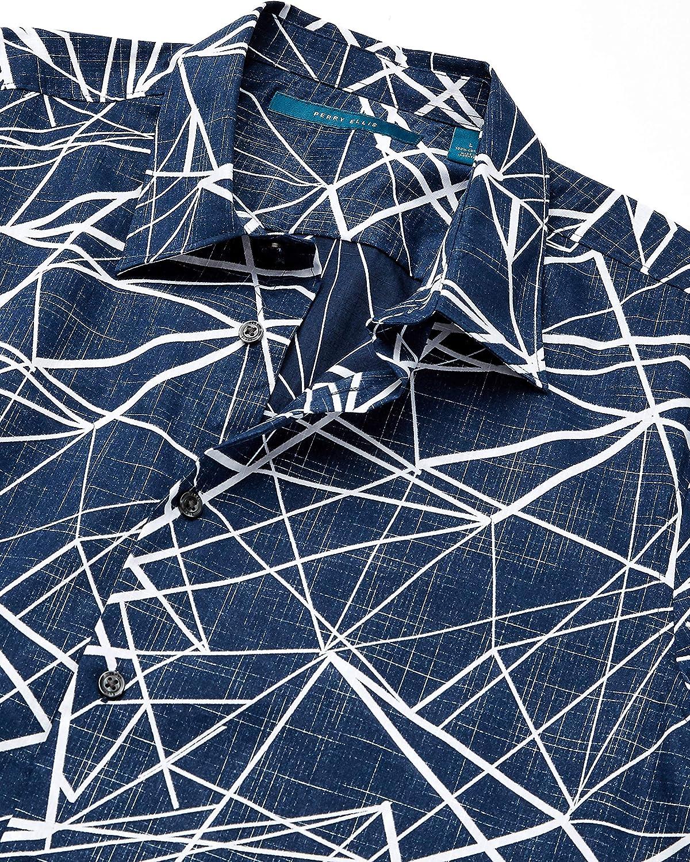 Perry Ellis Men's Shattered Labyrinth Print Short Sleeve Shirt