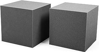 AcousPanel Trampa de Graves Corner Studio Pro. Set Bass Trap de 2 piezas de 30x30x30cm. Espuma acústica para bajas frecuencias o graves. Instalación en esquinas.