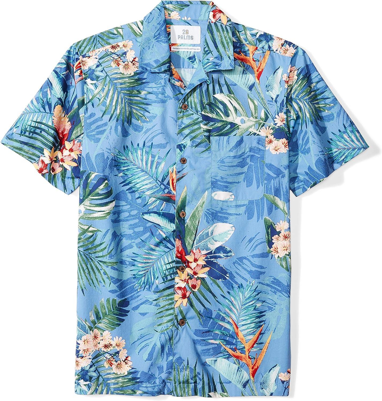 28 Palms Men's Standard-Fit 100% Cotton Hawaiian Shirt