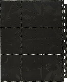 Ultimate Guard 18-Pocket Side-Loading Supreme Pages, Standard Size, Black 50 Counts