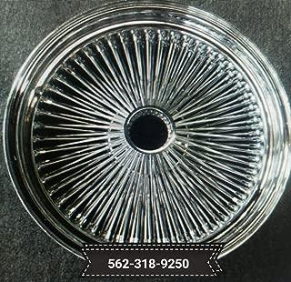 18X8 STD 100 SPOKES CHROME WIRE WHEELS