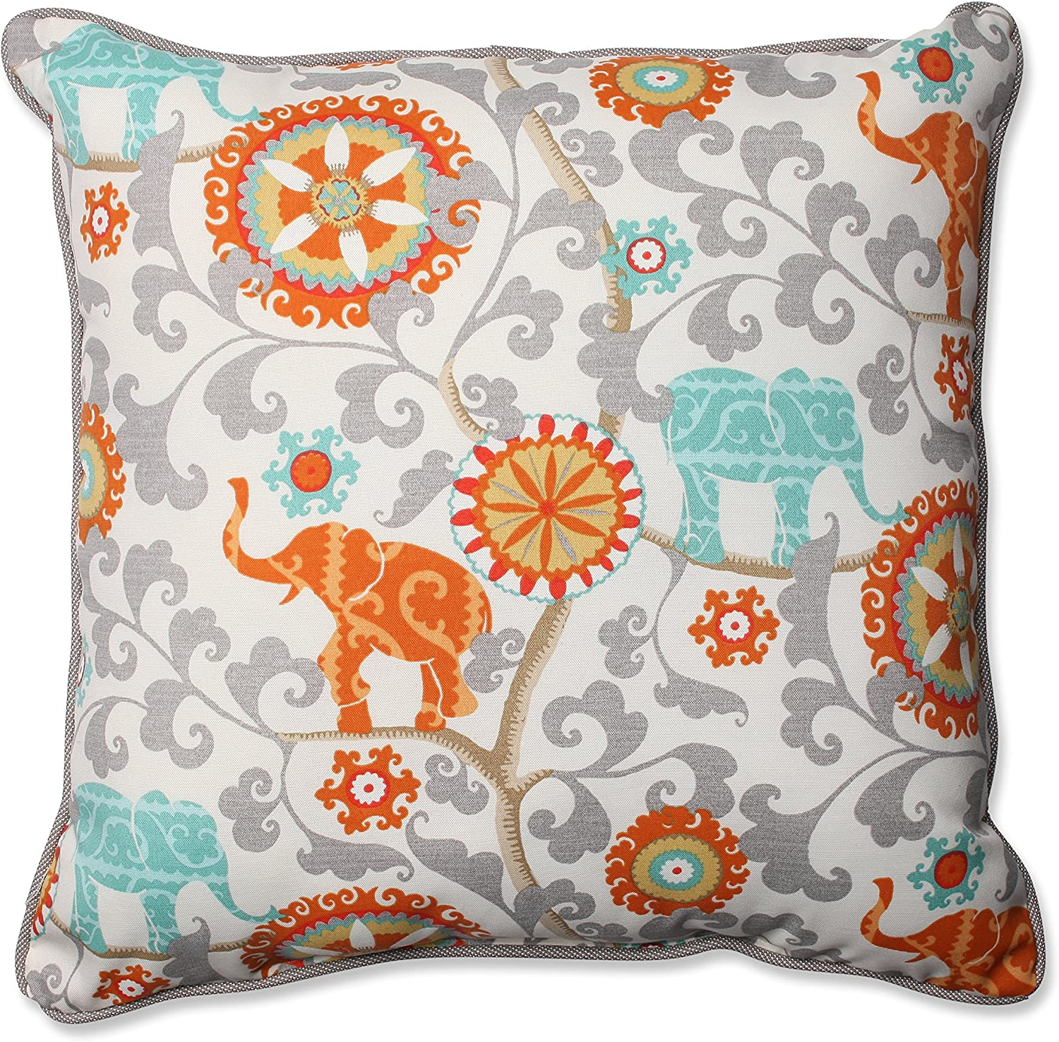 Pillow Perfect Outdoor Indoor Menagerie Cayenne Floor Pillow, 25