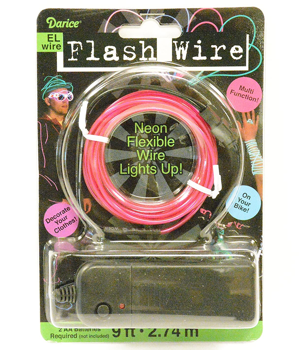 Darice El Flash Wire, Purple