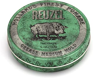 Reuzel - Green Grease Medium Hold Pomade For Men - Oil Based - Medium Shine - Style From Day To Night - Helps Retain Moist...
