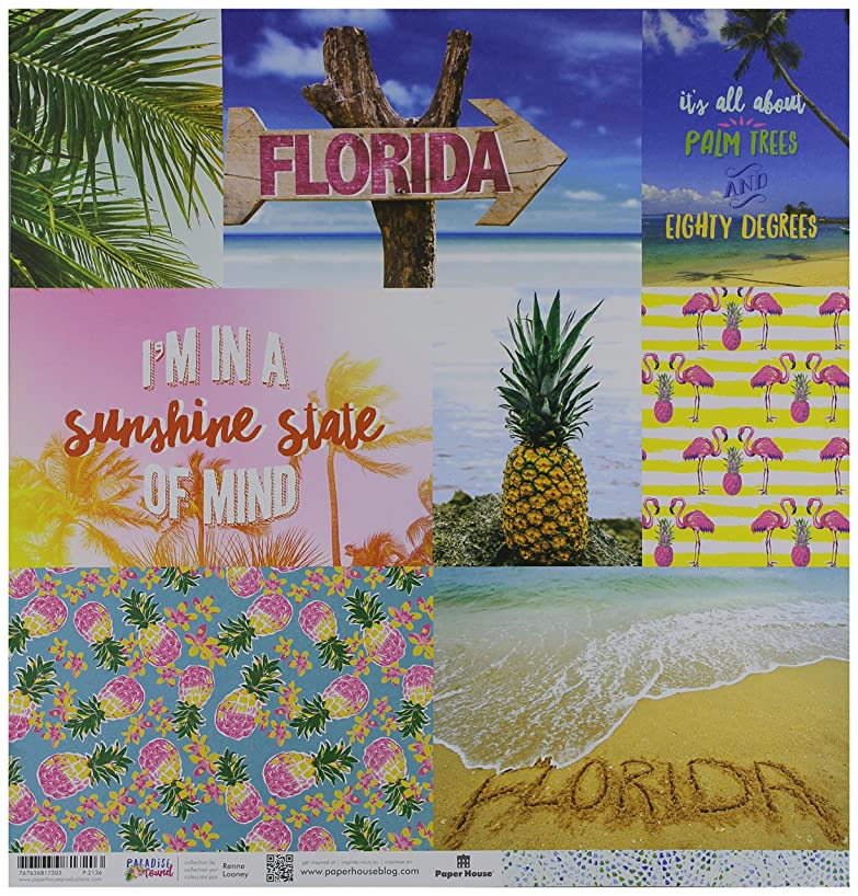 Paper House Productions Florida Tags Paper Craft Product (15 Pack), Piece