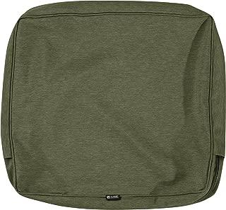 Classic Accessories Montlake Patio Back Cushion Slip Cover, Heather Fern, 21x20x4