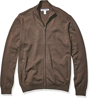 Men's Full-Zip Cotton Sweater