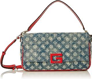 Guess Damen Brightside Large Shoulder Bags Crossbody, Denim Multi, Einheitsgröße