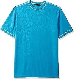 Bugatchi Mens JCF1000F1 Classic Fit Soft Fabric Short Sleeve Crew Neck Short Sleeve Shirt