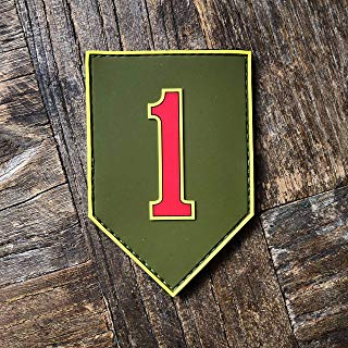 NEO Tactical Gear 1st Infantry Division Army Badge Big Red One PVC Rubber Morale Patch – Hook Backed