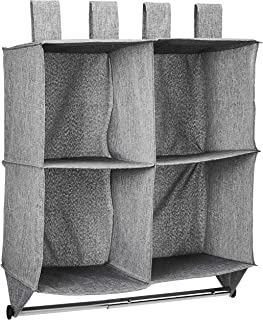 comprar comparacion AmazonBasics - Estantería para colgar en armario tipo cubo, 4 compartimentos, con barra para colgar