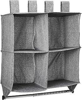 Amazon Basics Étagère de placard à suspendre 4 cubes avec tringle
