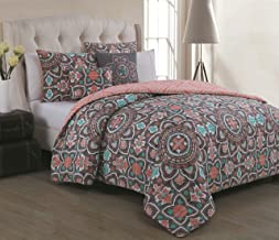 Avondale Manor Ibiza 5PC Duvet Set-King-Coral