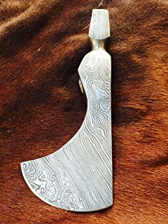 ColdLand Knives   Custom Hand Forged Damascus Steel Damascus Axe Head (Solidly Built for Tough use Such as Tracking, Camping, Outdoor Sports, Survival and Bush Craft Activities) CLXH03