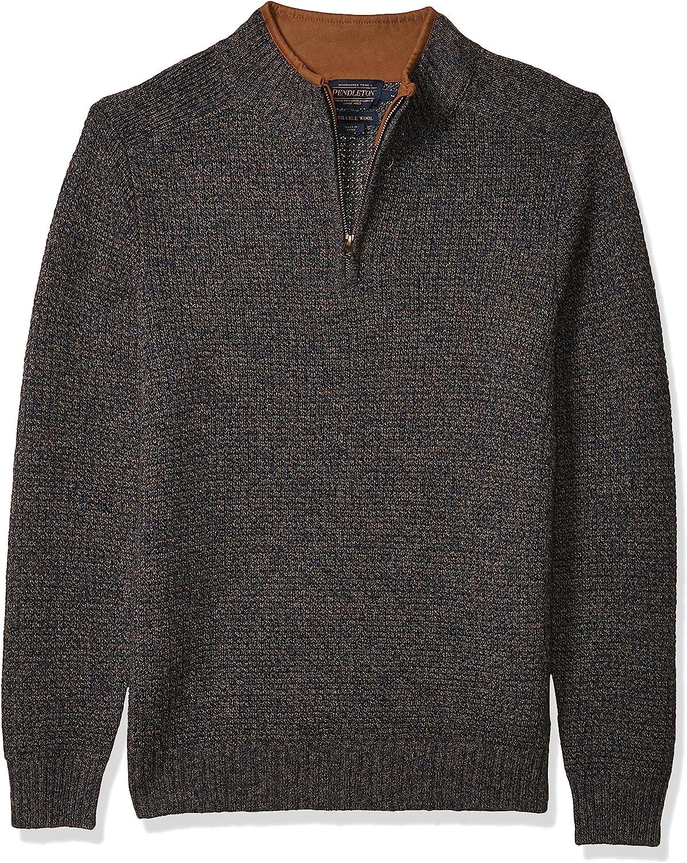 Pendleton Men's Limited Special Price Shetland Half Zip Cardigan Sweater shop