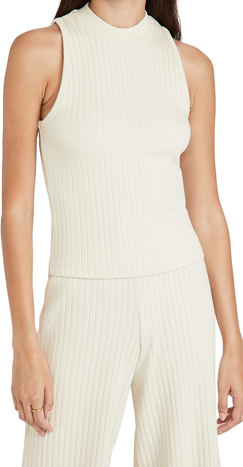 Vince Women's Ribbed High Neck Tank