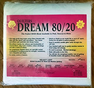 Quilter's Dream 80/20, White, Select Loft Batting - Twin Size 93