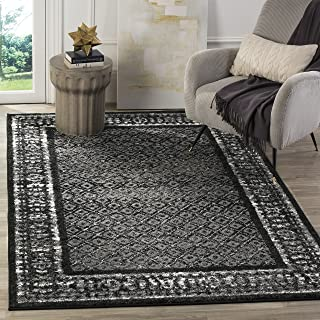 Safavieh Adirondack Collection ADR110A Black and Silver Vintage Distressed Area Rug (8' x 10')