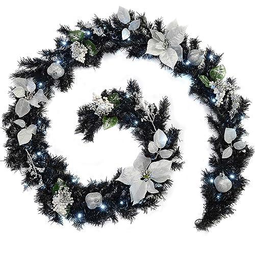 White Christmas Garland Amazon Co Uk