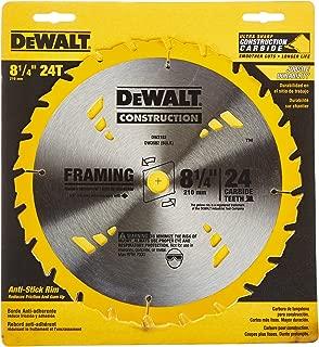 DEWALT 8-1/4-Inch Circular Saw Blade, ATB Framing with 5/8-Inch Arbor, 24-Tooth (DW3182)