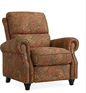 Domesis Cortez - Cloth Push Back Recliner Chair, Paisley