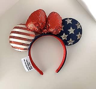 Disney Parks USA Stars and Stripes America Mickey Minnie Mouse Ears Headband