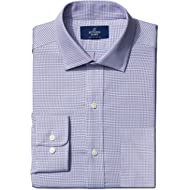 Amazon Brand - BUTTONED DOWN Men's Classic Fit Check Non-Iron Dress Shirt