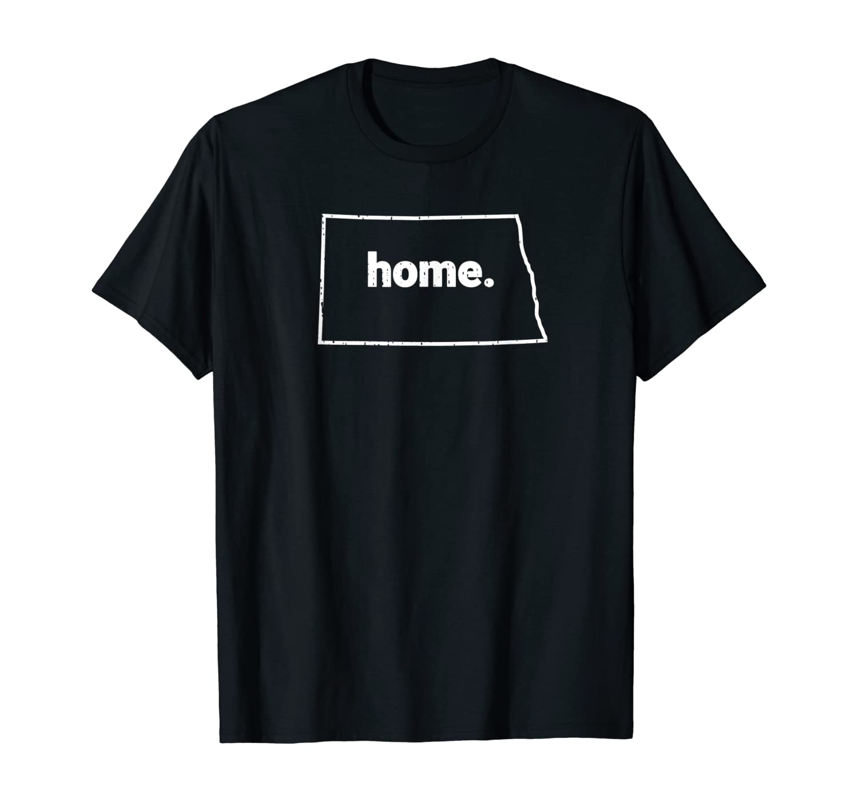 Distressed North Dakota Home Northern States T-Shirt